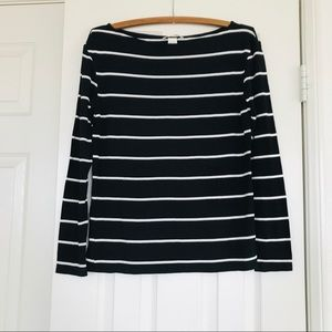H&M boat neck stripped sailor top